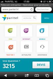 Paritel version smartphone